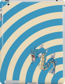 Pokemon - Gyrados Circles iPad Case by Aaron Campbell