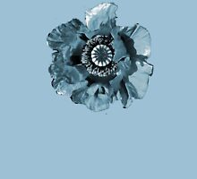 BLUE GREY POPPY   TEE/BABY GROW/STICKER Womens Fitted T-Shirt