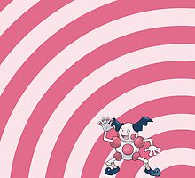 Pokemon - Mr. Mime Circles iPad Case by Aaron Campbell