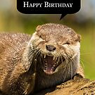Laughing Otter Birthday Card ha... ha... happy birthday by Moonlake