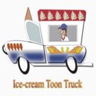Ice-cream Toon Truck T-shirt by Dennis Melling