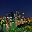 Brisbane River at Kangaroo Point by Peter Doré