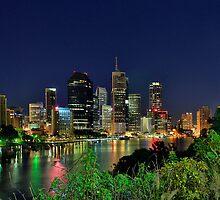 Brisbane River at Kangaroo Point by Peter Doré