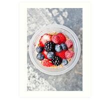 Granola-Berry-Cocktail. Art Print