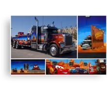 """Peterbilt Big Rig Tow Truck """"Cars"""" Tribute Truck Canvas Print"""