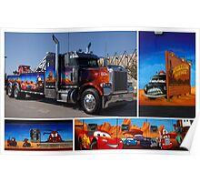 "Peterbilt Big Rig Tow Truck ""Cars"" Tribute Truck Poster"