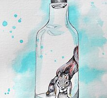 Bottled Squirrel by Kira Crees