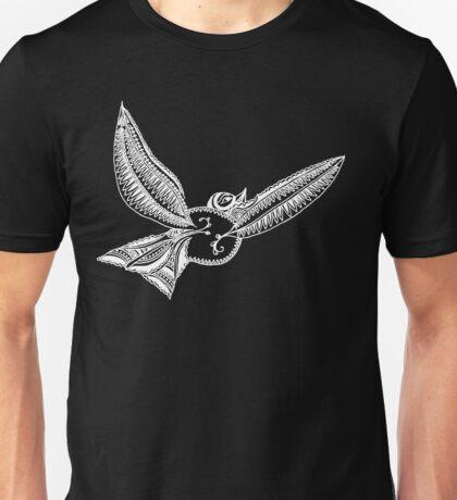 Journey Bird Flight White Unisex T-Shirt