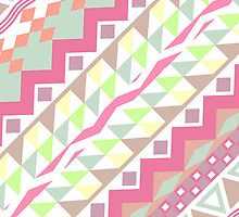 Girly Candy Pastel Modern Andes Aztec Pattern by GirlyTrend