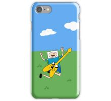 Finn the human with jake the dog as a guitar! iPhone Case/Skin