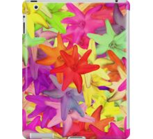 Bright Pink Yellow Psychedelic Summer Flowers iPad Case/Skin