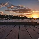 Looking West From Portsea Pier by djzontheball