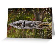 Big Gator Reflection Greeting Card