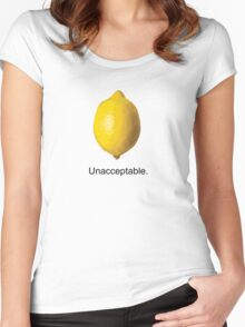 Unacceptable. Women's Fitted Scoop T-Shirt