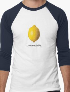 Unacceptable. Men's Baseball ¾ T-Shirt