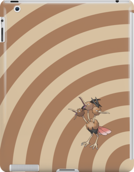 Pokemon - Dodrio Circles iPad Case by Aaron Campbell