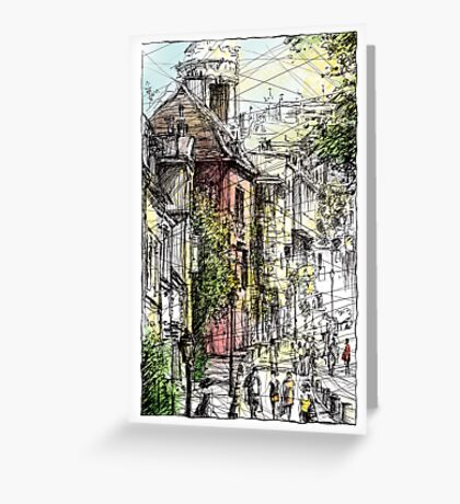 Montmartre 15 in colour Greeting Card