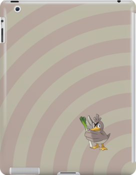 Pokemon - Farfetch'd Circles iPad Case by Aaron Campbell