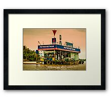 Gas Station Vietnam Style Framed Print