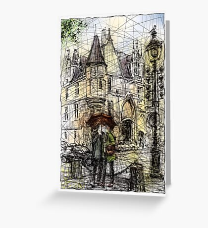 Paris 3 in colour Greeting Card