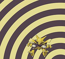 Pokemon - Alakazam Circles iPad Case by Aaron Campbell