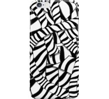 Modern Abstract Black White Zebra Stripes Pattern iPhone Case/Skin