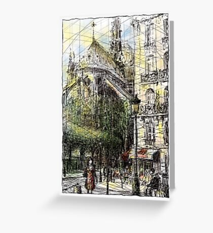 Paris 4 in colour Greeting Card