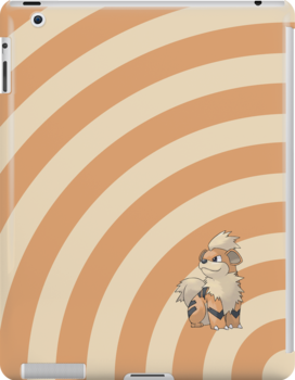 Pokemon - Growlithe Circles iPad Case by Aaron Campbell