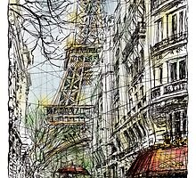 Paris 5 in colour by Tatiana Ivchenkova