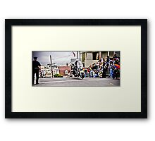 SFPD Motorcycles Framed Print