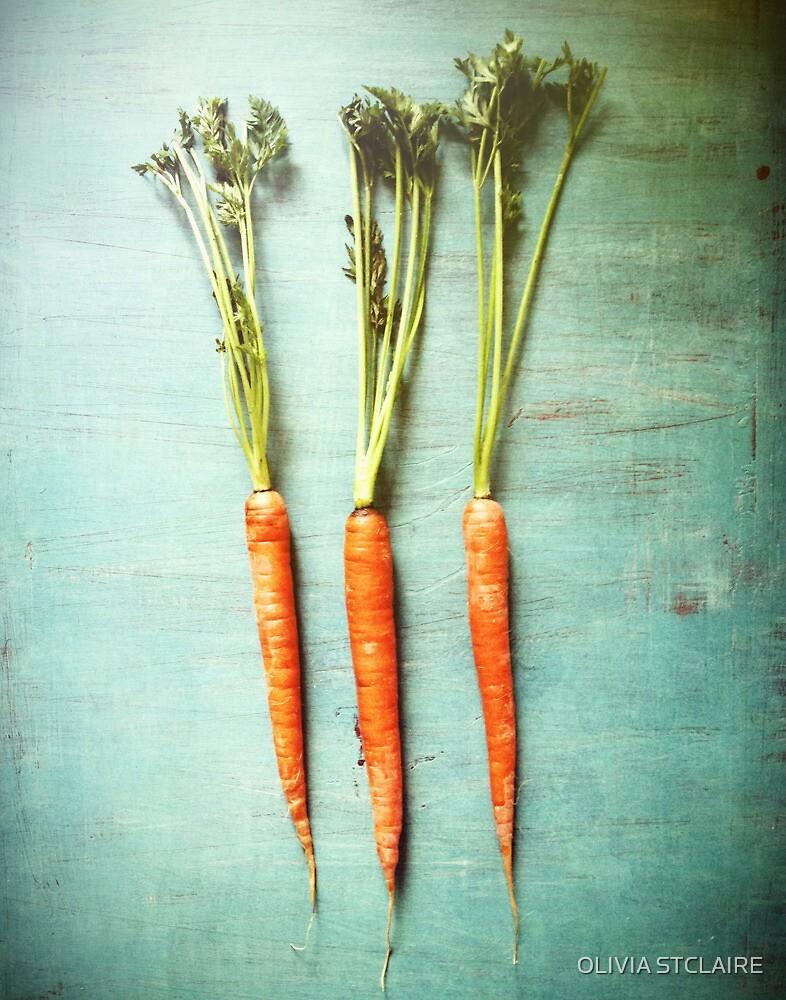 Three Carrots by Olivia Joy StClaire