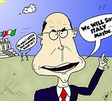 PM Enrico Letta Caricature by Binary-Options