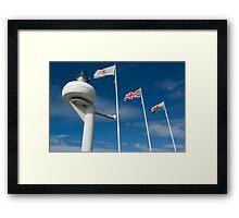 Cardiff Bay Flags Framed Print