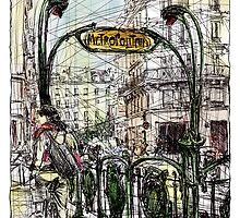 Paris 6 in colour by Tatiana Ivchenkova