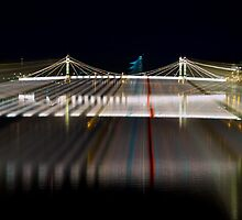 Night Time at Albert Bridge London by Suzanne Kirstein