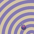 Pokemon - Venonat Circles iPad Case by Aaron Campbell