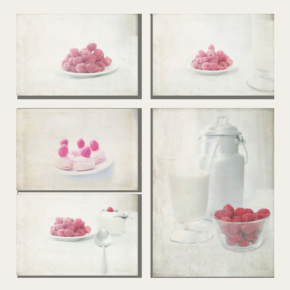 Way & Start Raspberries Collage by Feli Caravaca