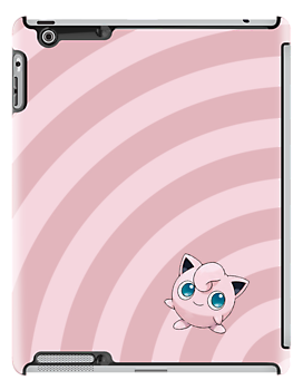 Pokemon - Jigglypuff Circles iPad Case by Aaron Campbell