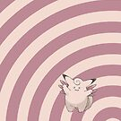 Pokemon - Clefable Circles iPad Case by Aaron Campbell