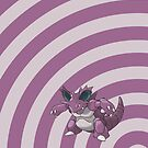 Pokemon - Nidoking Circles iPad Case by Aaron Campbell