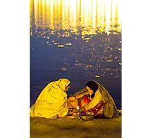 ladies at Kumbhmela Photographic Print