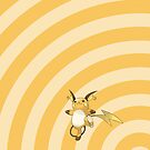 Pokemon - Raichu Circles iPad Case by Aaron Campbell