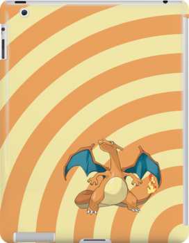 Pokemon - Charizard Circles iPad Case by Aaron Campbell