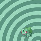 Pokemon - Bulbasaur Circles iPad Case by Aaron Campbell