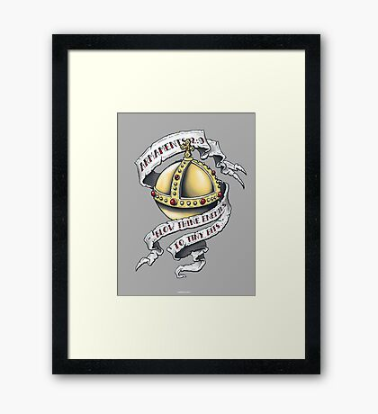 The Holy Hand Grenade Framed Print