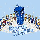 Doctor WHO ville - Print (with text by ianleino