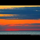 Long Island Sound Colorful Evening Horizon - Stony Brook, New York  by © Sophie Smith