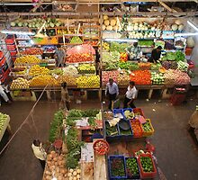 View from above: Indian fresh food market by WilsonLowe