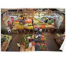 View from above: Indian fresh food market Poster
