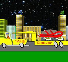 Delivery Toon Truck by Dennis Melling